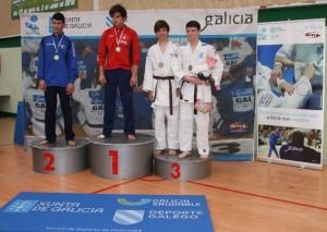Xiao Calvo, subcampeón Gallego en categoría -66kg Infantil