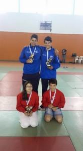 Jorge, Xiao, Lucia y Alex, con sus respectivas medallas del Torneo Concello de Castroverde