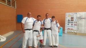 Sendón, Pitu, Hugo, Sergio y Manuel participaron en las jornadas de Judo Milagro León 2015