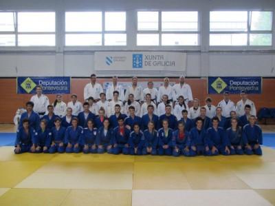Selección Galega Cadete convocada para la concentración de Judo Cadete 2015 en Pontevedra, junto a las selecciones Española y Balear de la categoría y sus respectivos técnicos