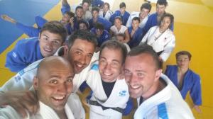Selección Galega Cadete, en la que se encuentra nuestro judoka, Xiao Calvo, junto a sus técnicos