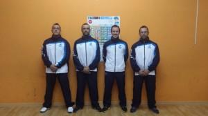 Sergio, Dani, Jorge y Pitu - parte de la delegación gallega de los mundiales de veteranos