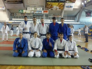 Equipo de A.D. Judo Ferrolterra que participó en torneo San Froilán 2014.