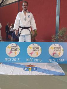 Jorge Diaz del Rio, subcampeón de III Juegos Europeos de Veteranos en Judo M2-73kg