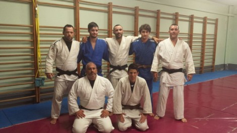 Equipo masculino A.D. Judo Ferrolterra para la liga internacional de clubes, XIII Trofeo de Judo